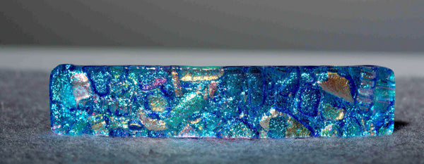 Large Dichroic Glass Barrette in 17 Mosaic Colors