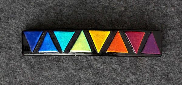 BTC Dichroic Glass Barrette