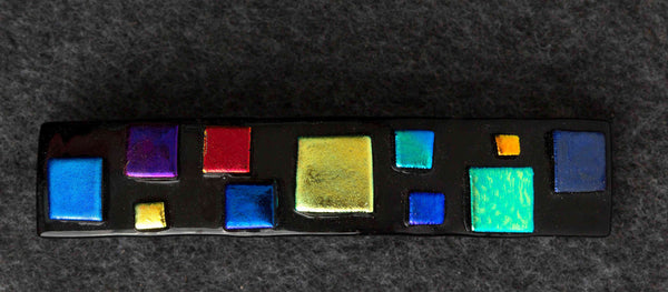 BTEE Dichroic Glass Barrette