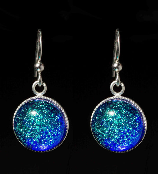 Round Dangle Earrings in 15 accent colors and 2 sizes