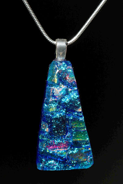 #10 Trapezoid Pendant w/ Silver Chain in 15 Mosaic Colors