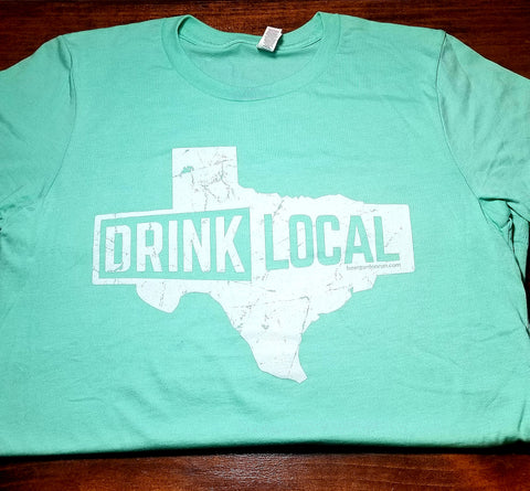 Drink Local Texas - Mint Green