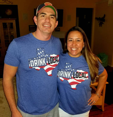 America - Drink Local Short Sleeve T-Shirt