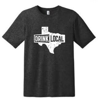 Heather Dark Grey - Drink Local Texas - T-Shirt
