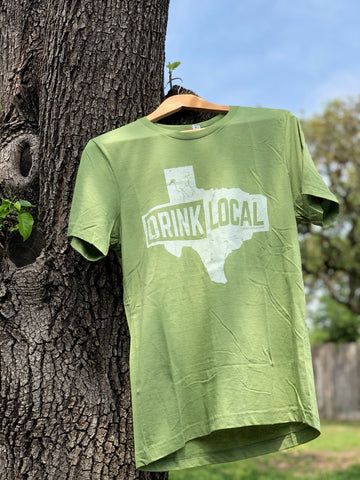 Drink Local Texas - Olive Green
