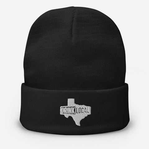 Drink Local TX Embroidered Beanie Cap