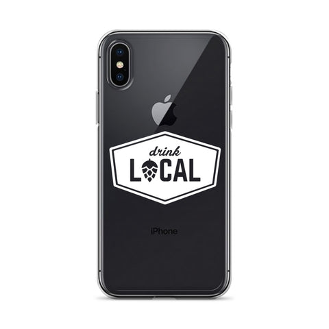 iPhone Case Drink Local White logo