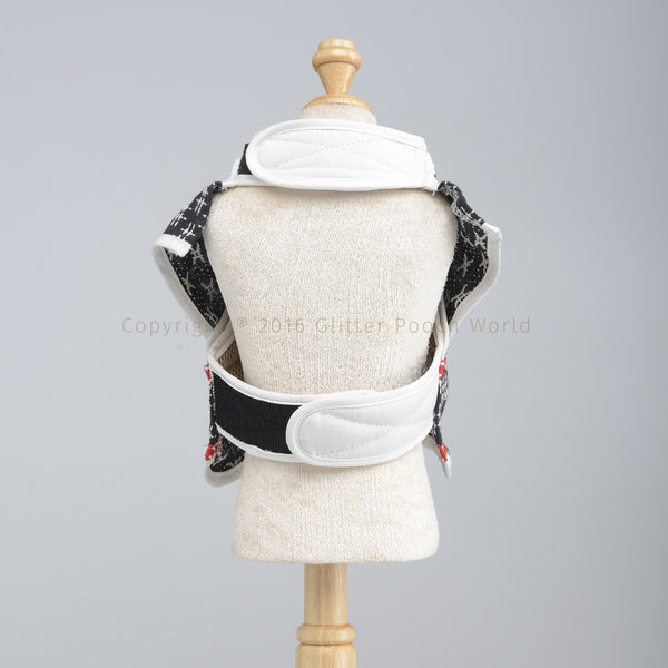 Black Knight Samurai DOG HARNESS - GLITTER POOCH DOG & CAT HARNESS