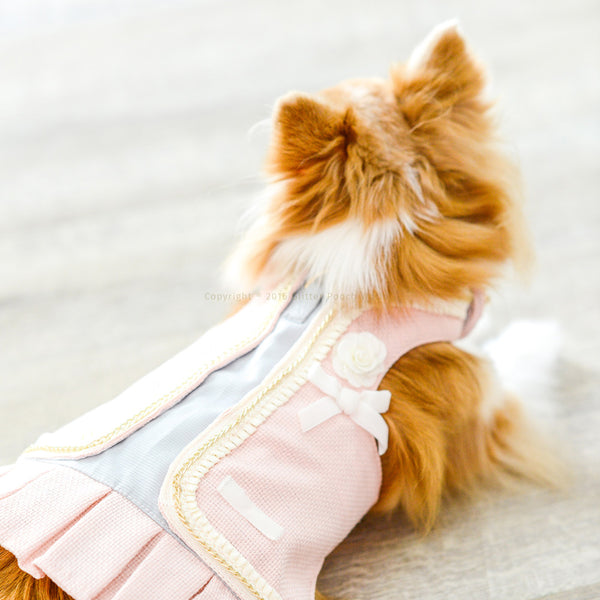 CLASSY COCO IN PINK DOG & CAT HARNESS - GLITTER POOCH DOG & CAT HARNESS