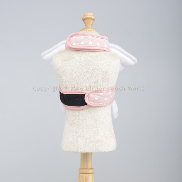 Dotty Angel Peach DOG & CAT HARNESS - GLITTER POOCH DOG & CAT HARNESS