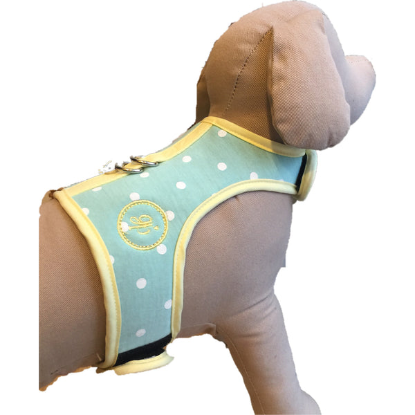 Simply Chic Cotton- Dotty Mint DOG & CAT HARNESS - GLITTER POOCH DOG & CAT HARNESS