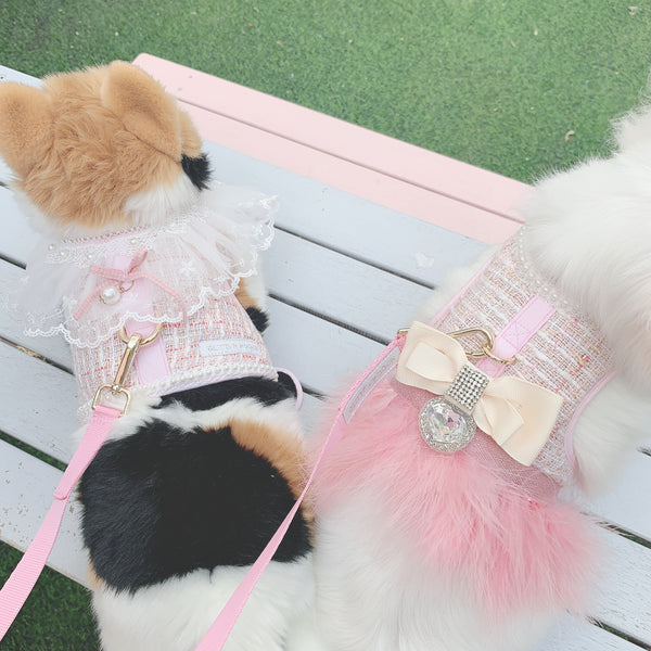 Baby rose' DOG & CAT HARNESS - GLITTER POOCH DOG & CAT HARNESS