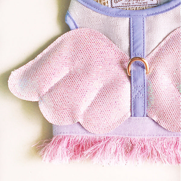 VIOLETTA LITTLE WINGS DOG & CAT HARNESS - GLITTER POOCH DOG & CAT HARNESS