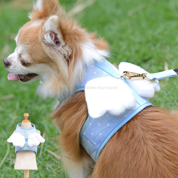 Dotty Angel Blue DOG & CAT HARNESS - GLITTER POOCH DOG & CAT HARNESS