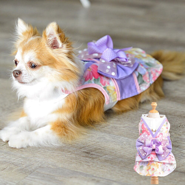 Kimono Pink Bloosom DOG & CAT HARNESS - GLITTER POOCH DOG & CAT HARNESS