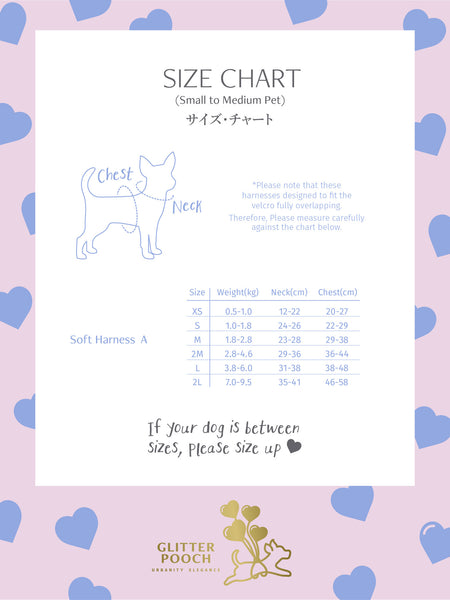 WITH LOVE (Baby Blue)DOG & CAT HARNESS - GLITTER POOCH DOG & CAT HARNESS