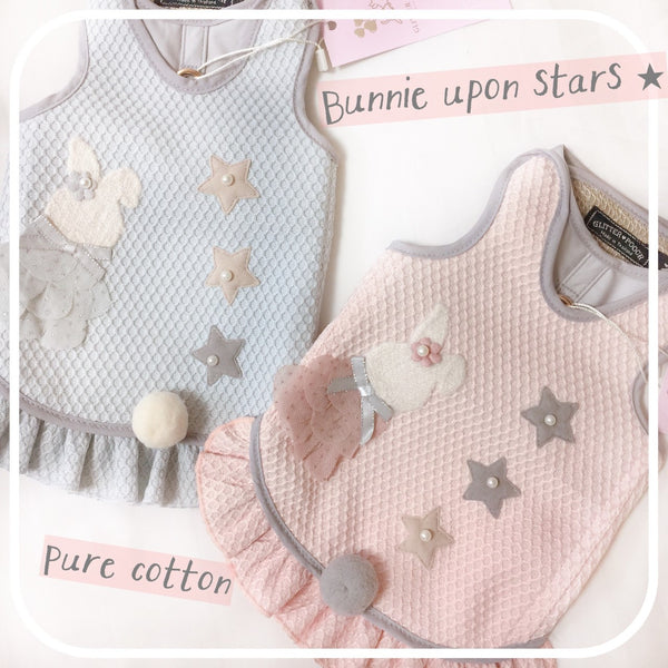 Bunnie Upon Stars- Blue DOG & CAT HARNESS - GLITTER POOCH DOG & CAT HARNESS