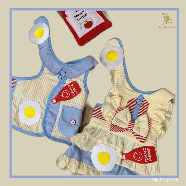 BREAKFAST DATES DOG & CAT HARNESS - GLITTER POOCH DOG & CAT HARNESS