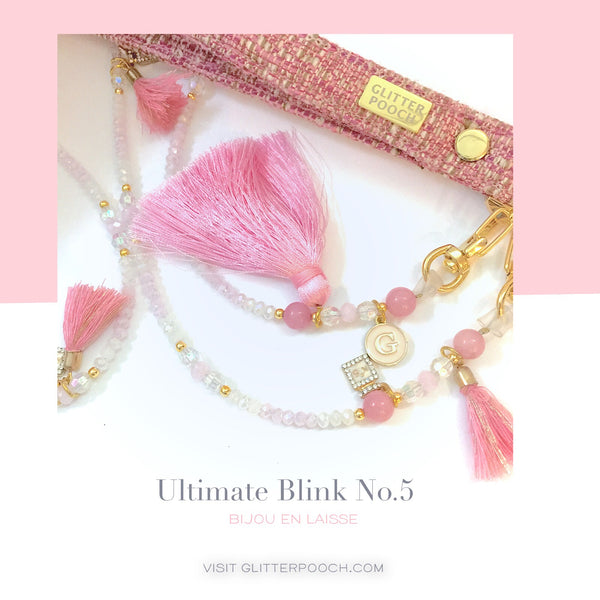Ultimate blink (Pink)   - Dog & CAT  Jewel Leash - GLITTER POOCH DOG & CAT HARNESS