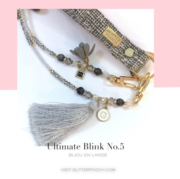 Ultimate blink (gray)   - Dog & CAT  Jewel Leash - GLITTER POOCH DOG & CAT HARNESS