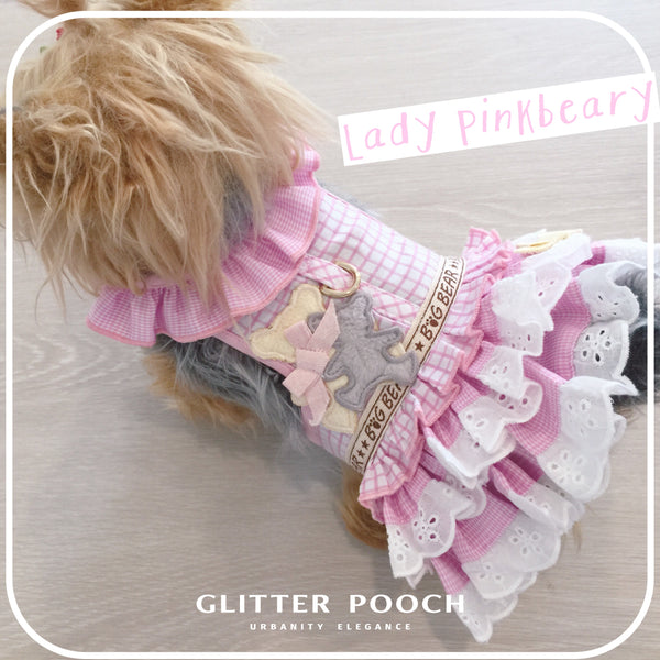 Lady pinkbeary DOG & CAT HARNESS - GLITTER POOCH DOG & CAT HARNESS