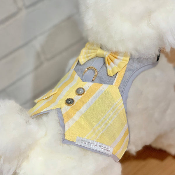 Mr.Gentleman (Yellow)  DOG & CAT HARNESS - GLITTER POOCH DOG & CAT HARNESS