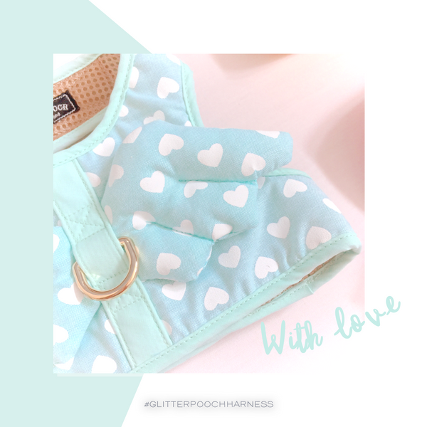 WITH LOVE (MINT)DOG & CAT HARNESS - GLITTER POOCH DOG & CAT HARNESS