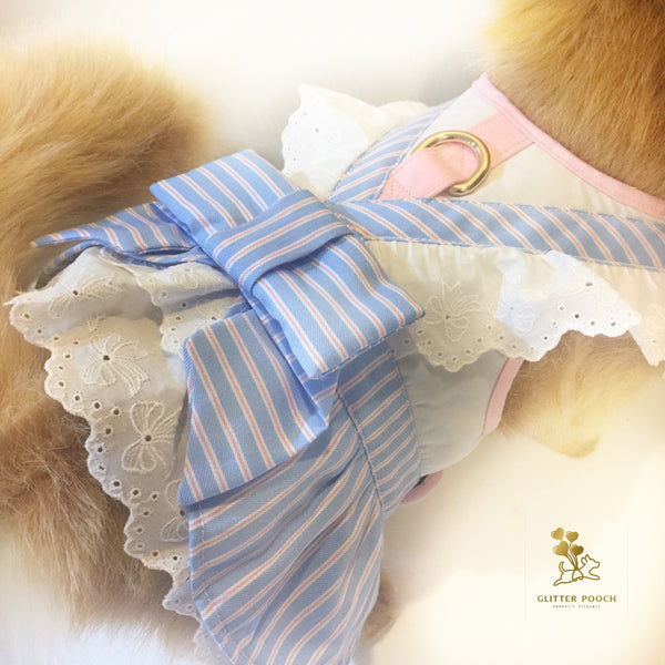 Lolita Lady - White Dog & Cat Harness - GLITTER POOCH DOG & CAT HARNESS