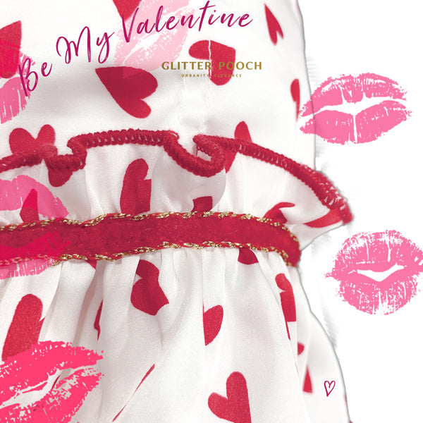 Be My Valentine - Dog & Cat Harness - GLITTER POOCH DOG & CAT HARNESS
