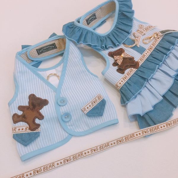 Bluebeary Strip Suit DOG & CAT HARNESS - GLITTER POOCH DOG & CAT HARNESS