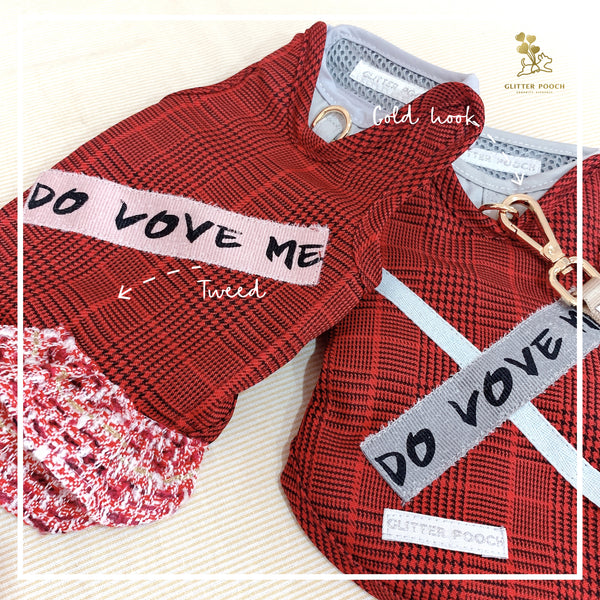 DO LOVE ME- DOG AND CAT HARNESS SET - GLITTER POOCH DOG & CAT HARNESS