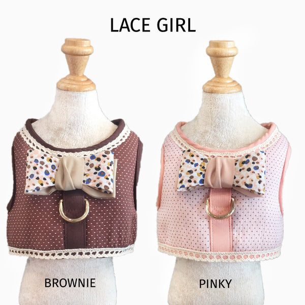 Lace Pink - GLITTER POOCH DOG & CAT HARNESS