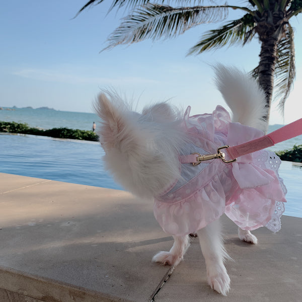 Lolita Lady - Dog & Cat Harness (In Pink) - GLITTER POOCH DOG & CAT HARNESS