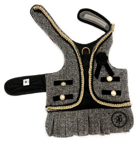 NEW CLASSY COCO BLACK DOG & CAT HARNES - GLITTER POOCH DOG & CAT HARNESS