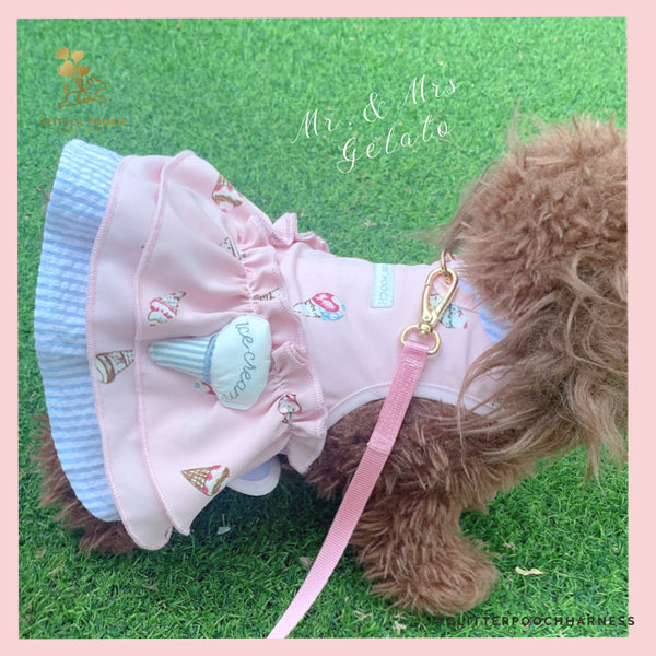 MR. & MRS. GELATO DOG & CAT HARNESS - GLITTER POOCH DOG & CAT HARNESS