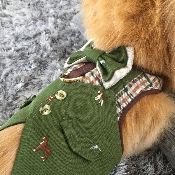 SHERLOCK HOUND DOG & CAT HARNESS - GLITTER POOCH DOG & CAT HARNESS