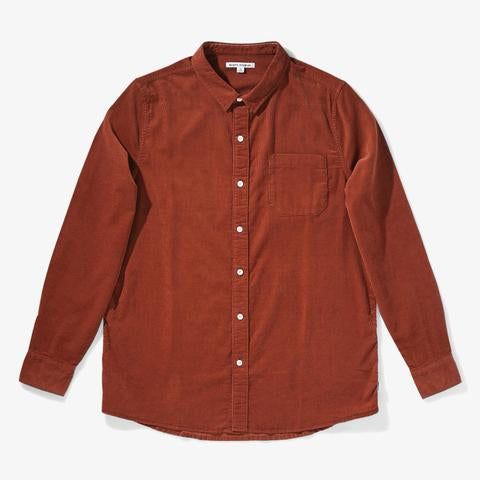 banks journal rust roy long sleeve cord button up