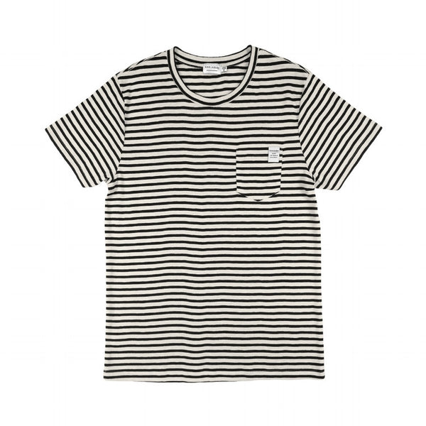 Black and White Classic Striped Pocket Tee