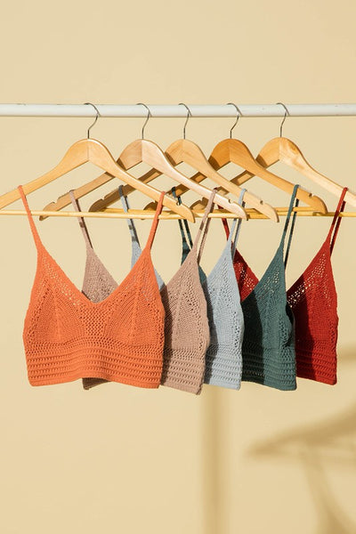 crochet knit bralette top thang