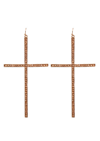 Cross Earrings, Multiple Colors