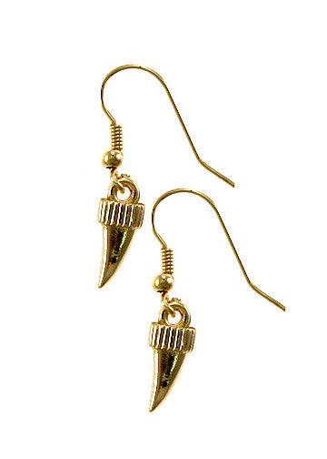 Gold Shark Tooth Earrings