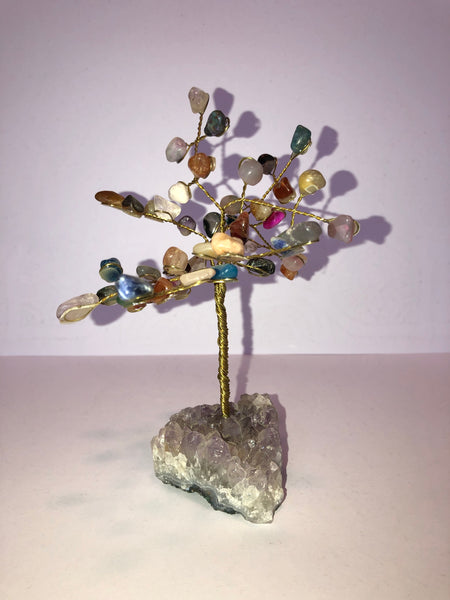 Crystal Tree with Amethyst Base