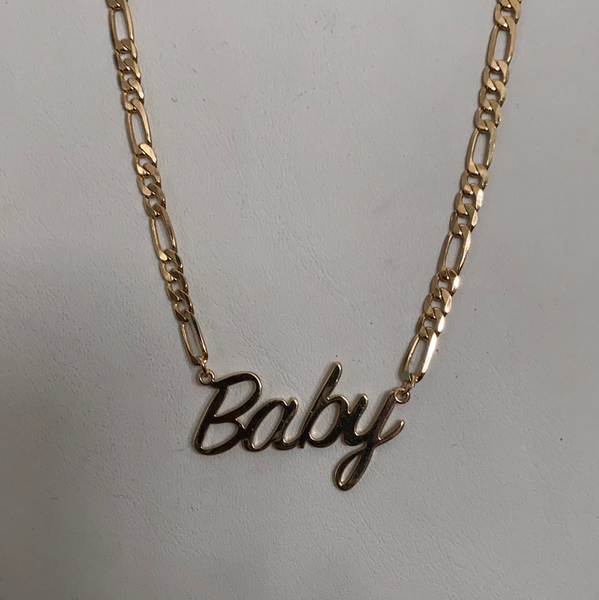 baby gold chain necklace