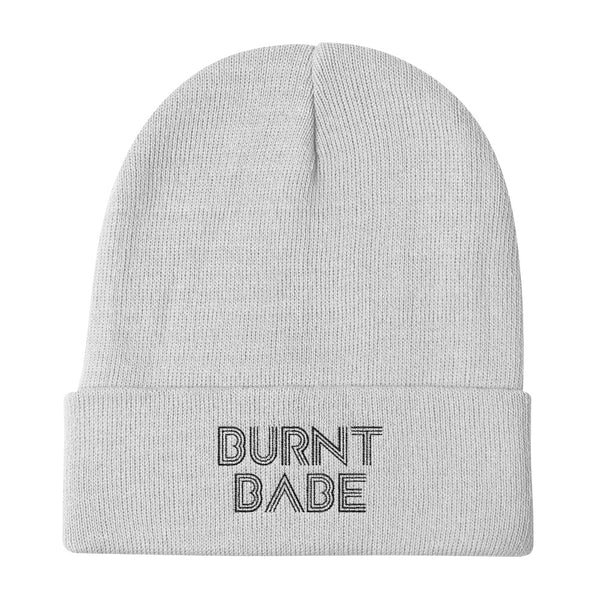 burnt babe knit beanie