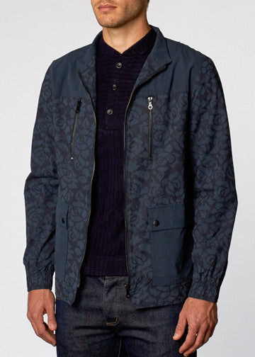Navy Blue Philemon Floral Jacket