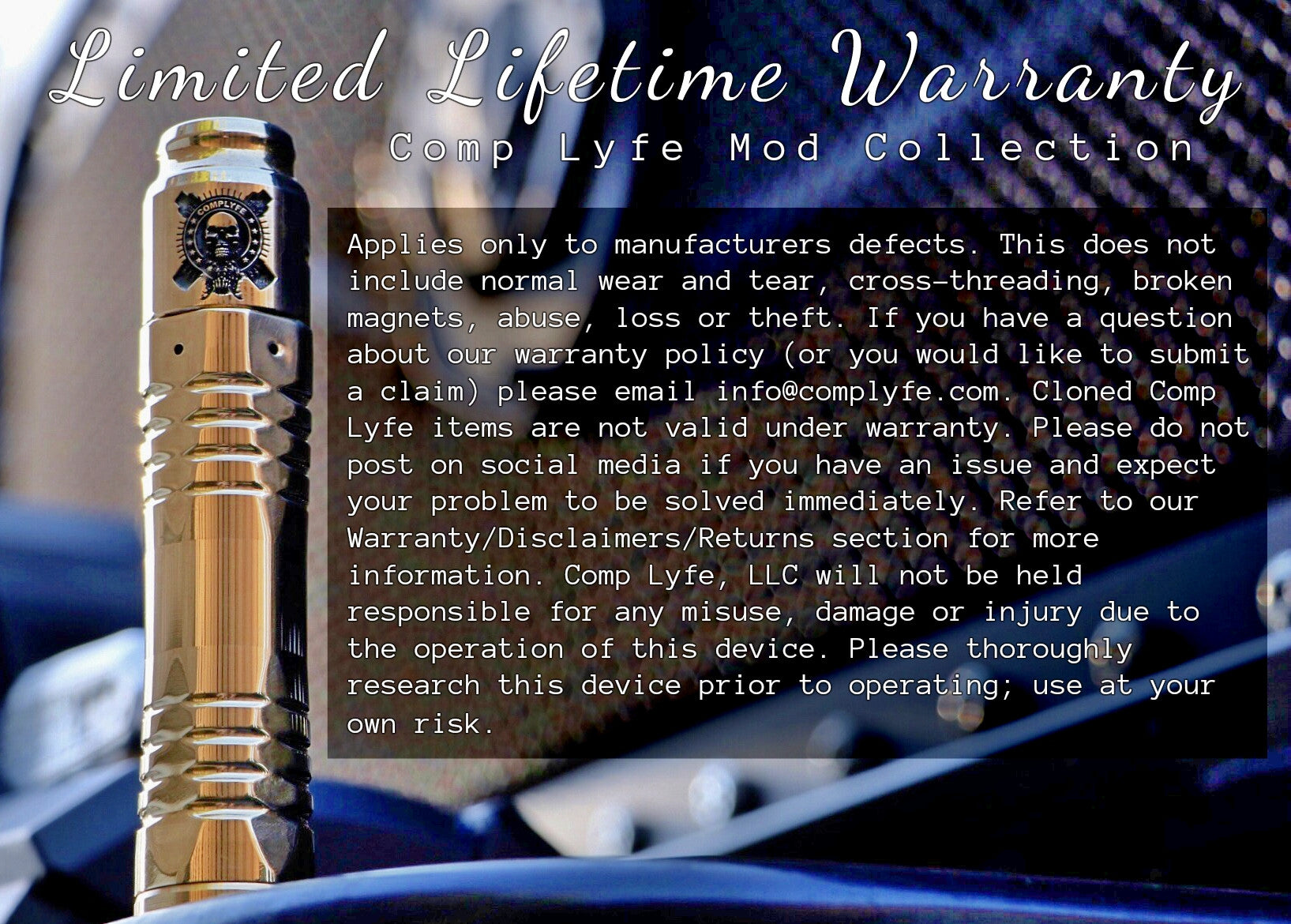 Comp Lyfe Mod Collection Warranty