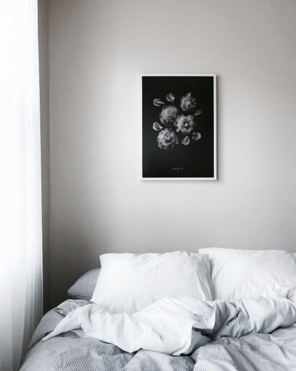 'Paeonia Officinalis' print by Coco Lapine in Liz Wang's bedroom