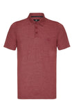 COUNTRY JERSEY MARL POLO SHIRT - BURGUNDY