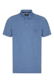 COUNTRY JERSEY MARL POLO SHIRT - DUSTY BLUE