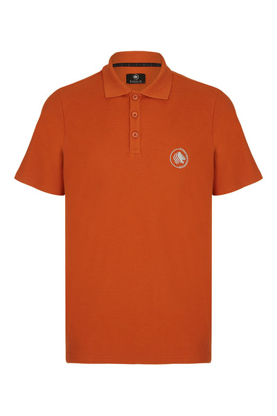 CITY PIQUE POLO SHIRT - RUST
